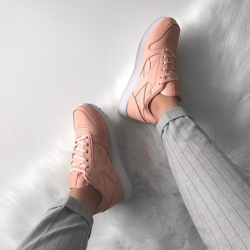 Шикарные женские кроссовки reebok classic powder (весна/ лето/... - Фото 5