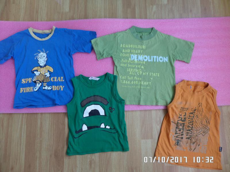 Комплект футболок на 3-5 років