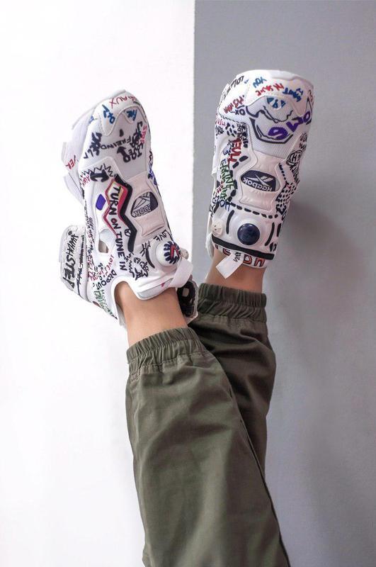 Шикарные женские кроссовки insta pump (весна/ лето/ осень) - Фото 2