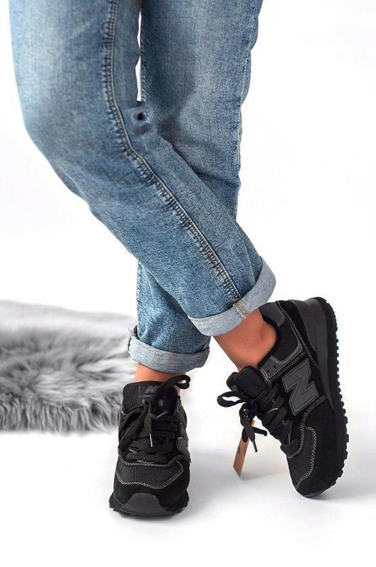 Шикарные женские кроссовки new balance 574 (весна/ лето/ осень) - Фото 2