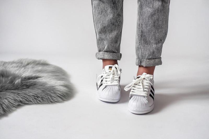 Шикарные женские кроссовки adidas superstar (весна/ лето/ осень) - Фото 2