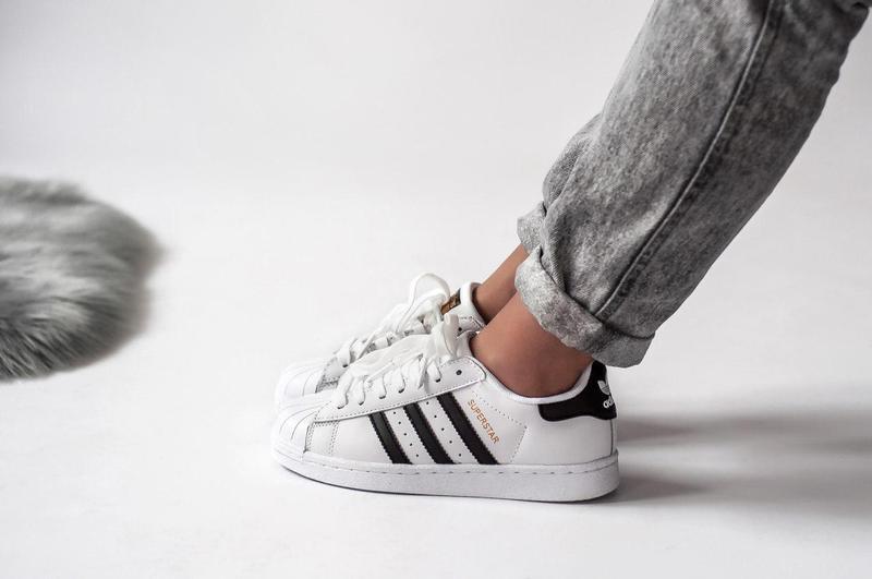 Шикарные женские кроссовки adidas superstar (весна/ лето/ осень) - Фото 3