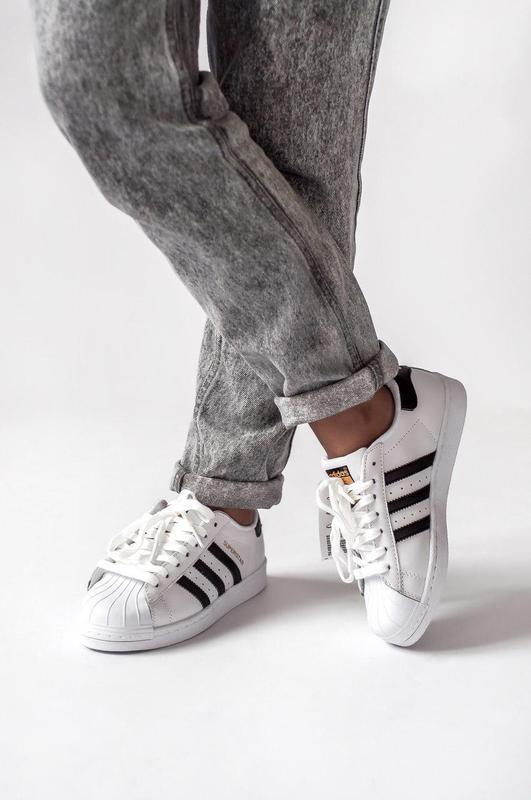 Шикарные женские кроссовки adidas superstar (весна/ лето/ осень) - Фото 4