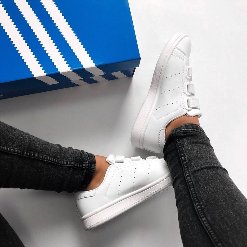 Шикарные женские кроссовки adidas stan smith comfort (весна/ л... - Фото 2