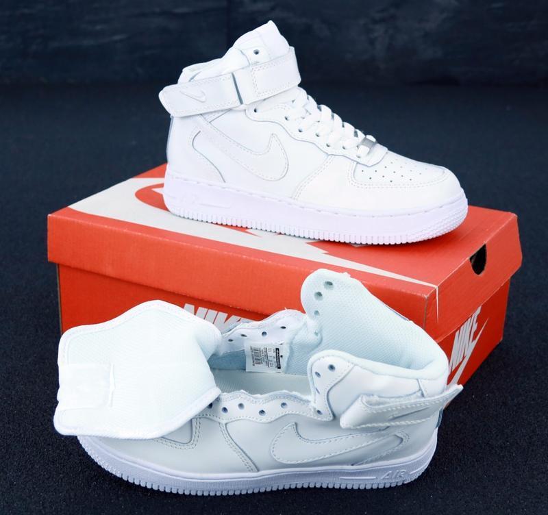 Белые кроссовки nike air (осень) - Фото 6