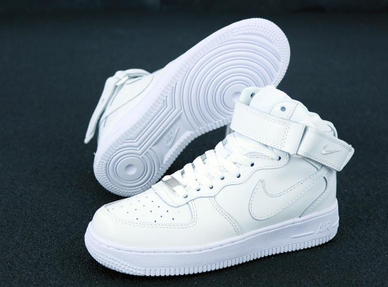 Белые кроссовки nike air (осень) - Фото 7