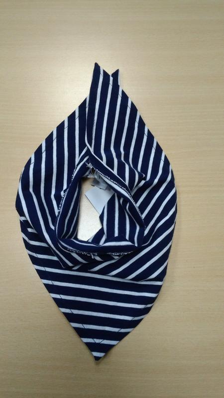 Бандана, косынка, детская, хлопковая, шарф, в полоску, tchibo - Фото 3