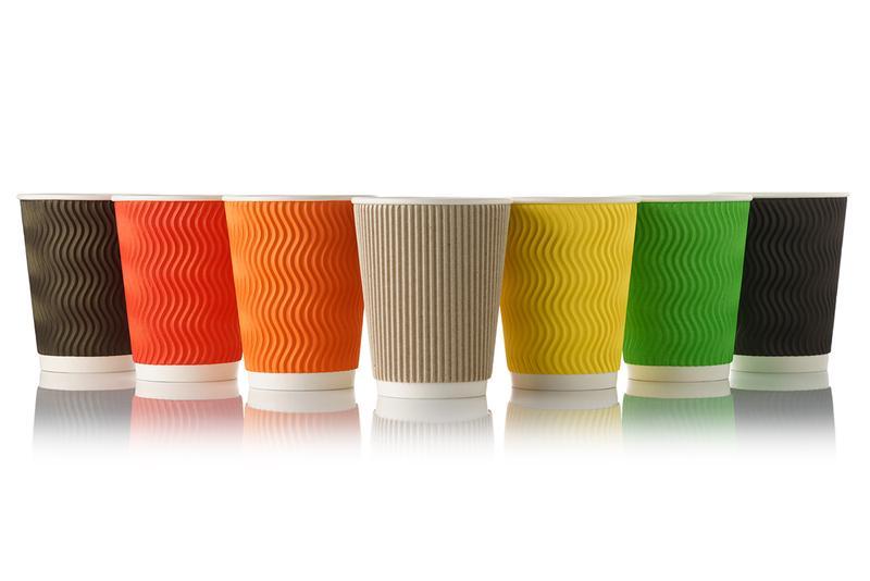 Бумажные стаканы гофрированные