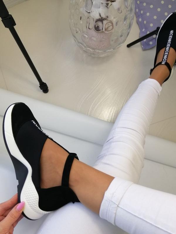 Женские туфли в спортивном стиле - Фото 3