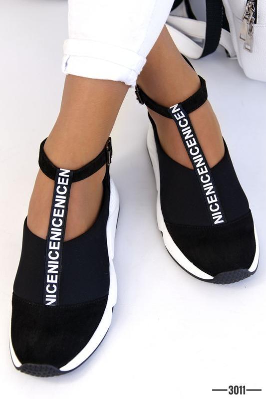 Женские туфли в спортивном стиле - Фото 4