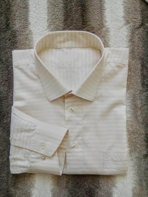 Мужская рубашка с длинным рукавом и принтом pierre cardin