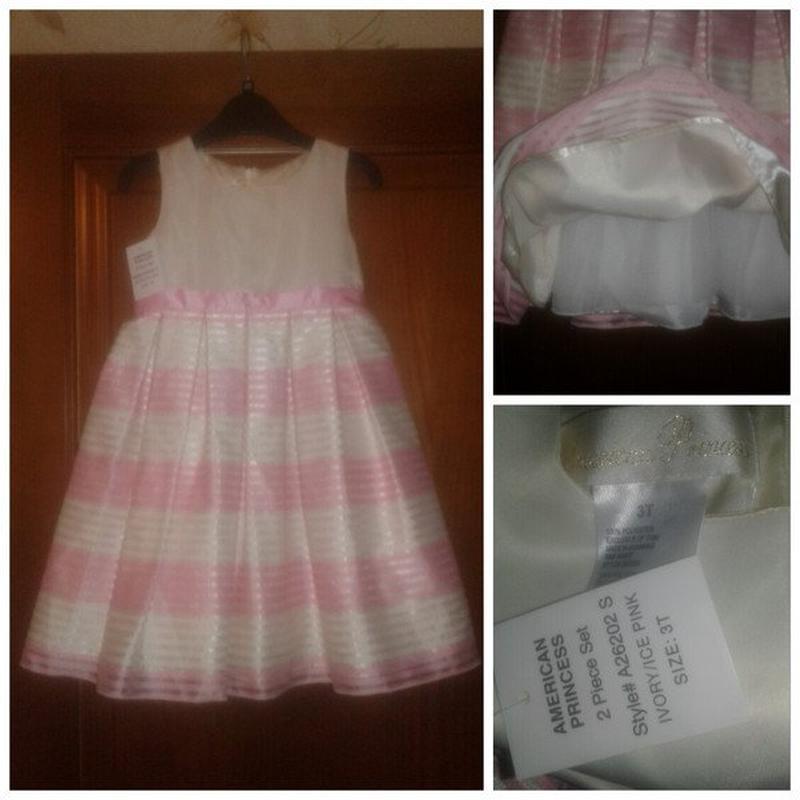 Новое нарядное платье american princess оригинал, размер 3т