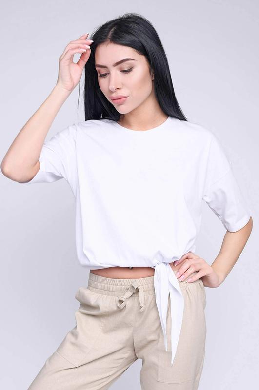 Свободная женская футболка без принта