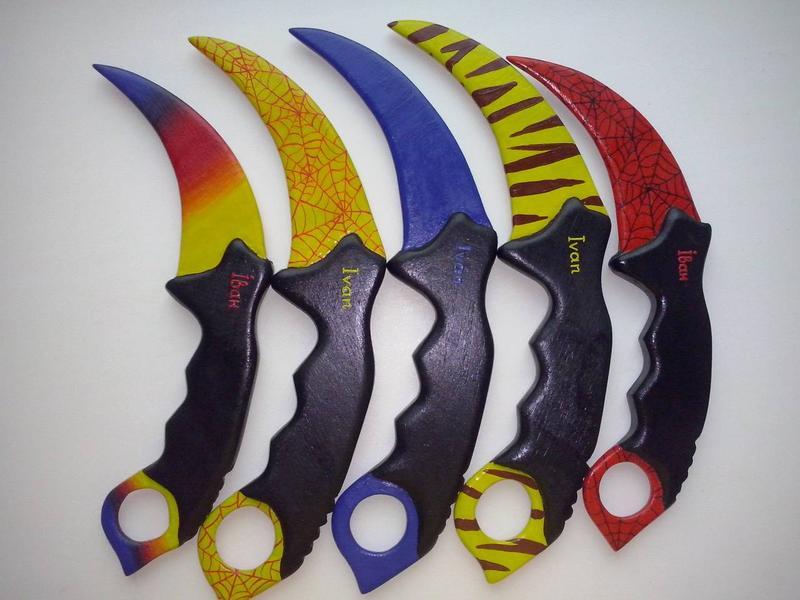 Керамбит игрушка именной из дерева csgo сувенир нож