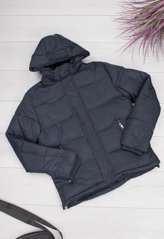 Мужская зимняя темно-синяя куртка