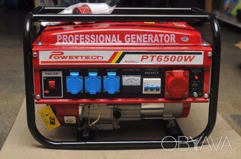 Бензиновый генератор 3-х фазный POWERTECH 4, 5 КВ