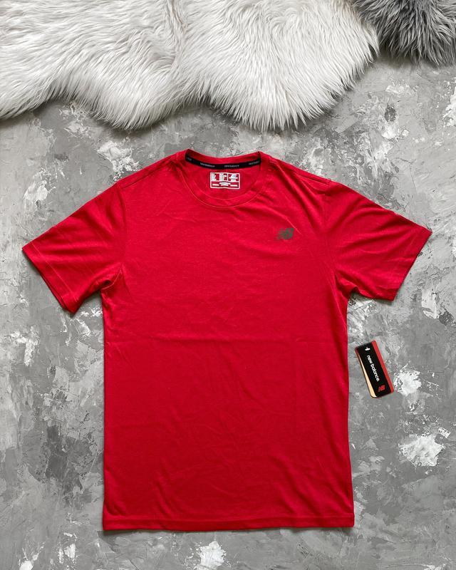Оригинал! мужская футболка new balance heather tech новая из сша