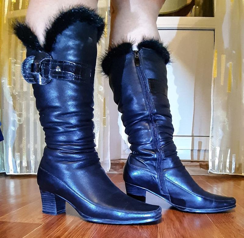 Кожаные женские сапоги Gotti WF-07-4206-774G (36 размер)