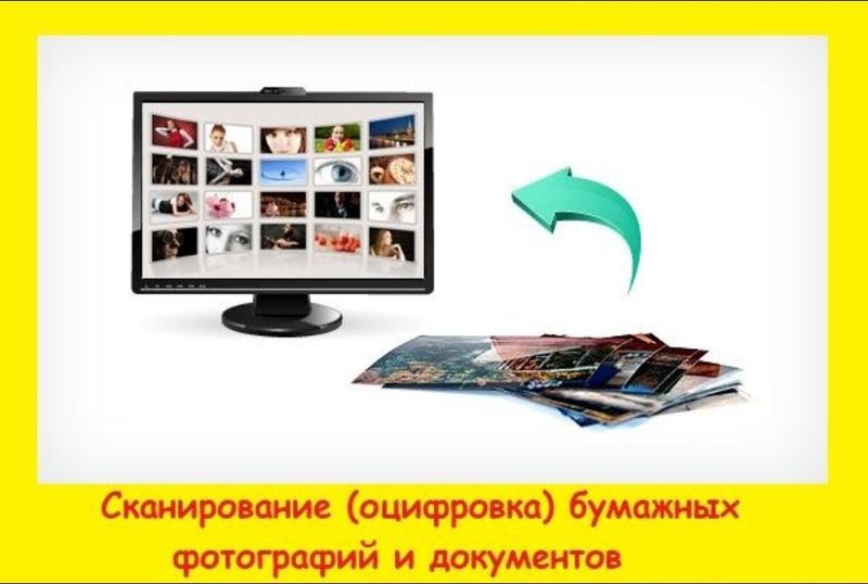 Сканирование (оцифровка) и печать бумажных фотографий, документов
