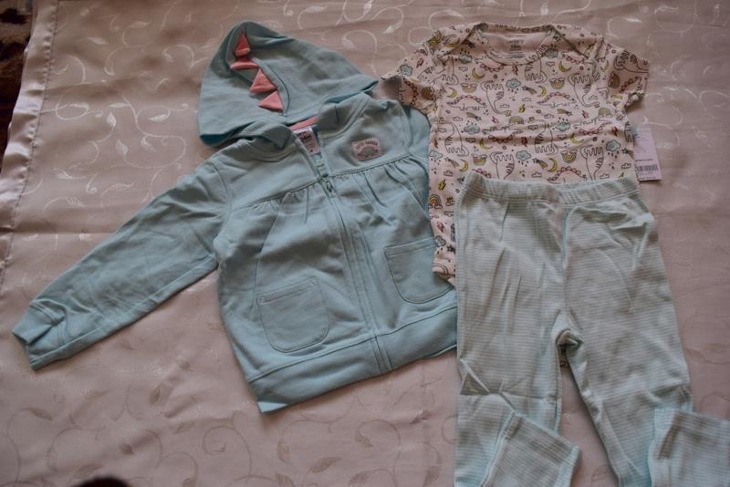 Боди, кофта, штаны carter's картерс набор 24m - Фото 3