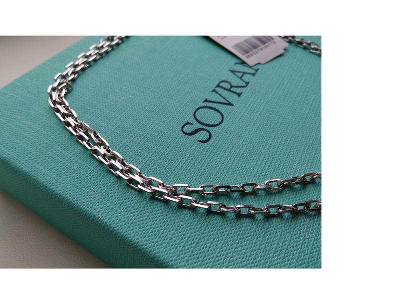 Серебряная цепочка цепь 55 см якорное плетение серебро 925 пробы