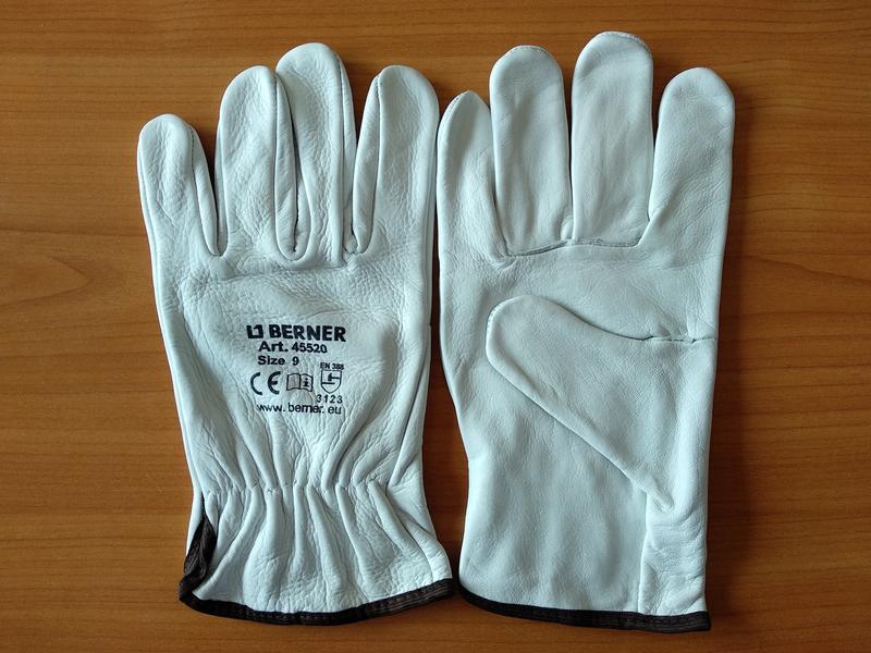 Кожаные рабочие перчатки Berner