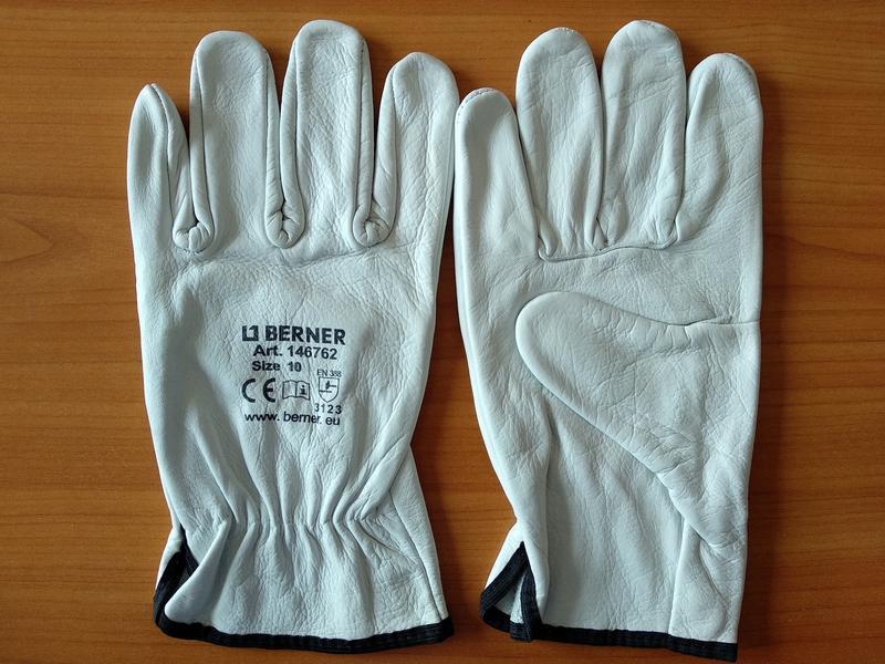 Кожаные рабочие перчатки Berner - Фото 2