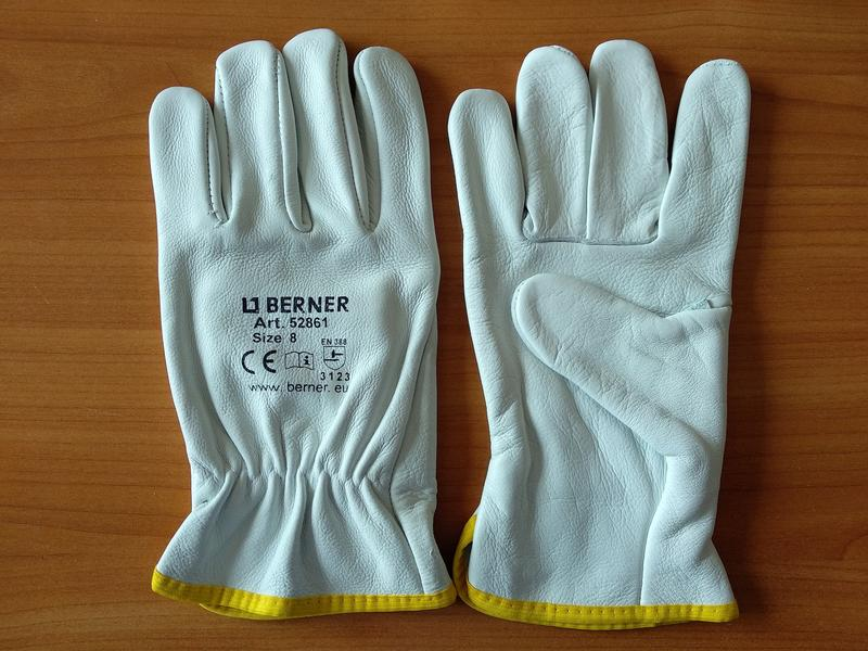 Кожаные рабочие перчатки Berner - Фото 3