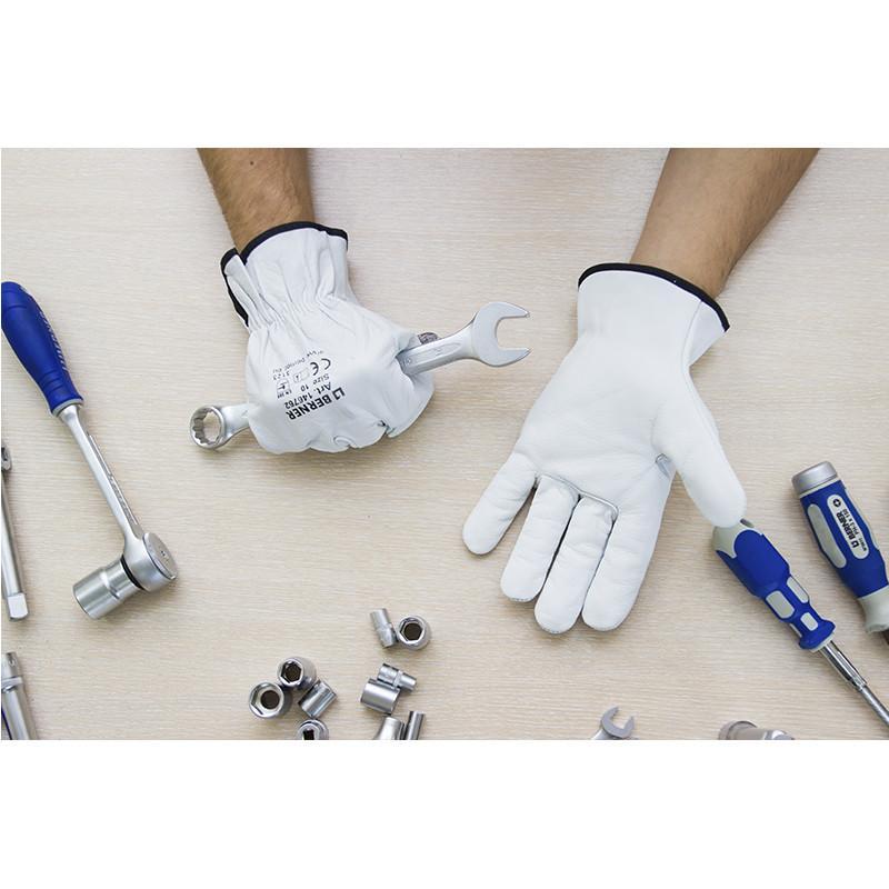Кожаные рабочие перчатки Berner - Фото 4