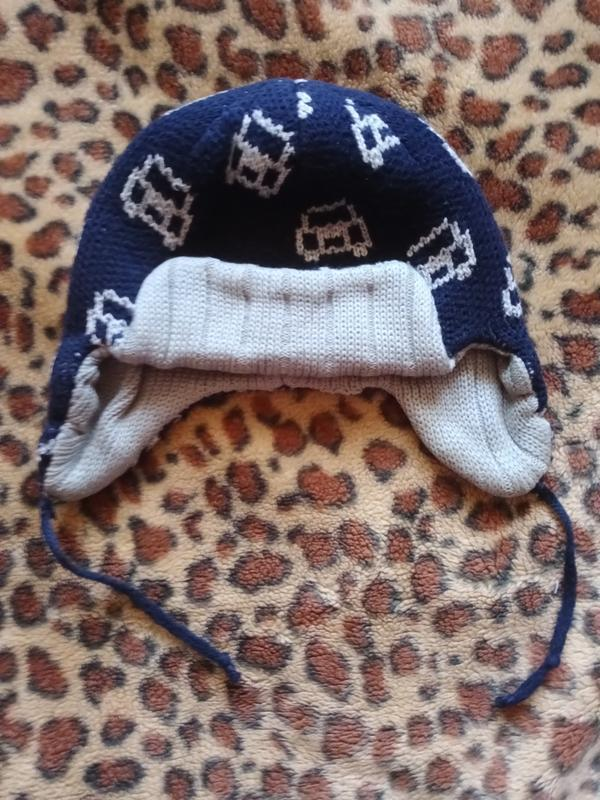 Тёплая шапка для мальчика