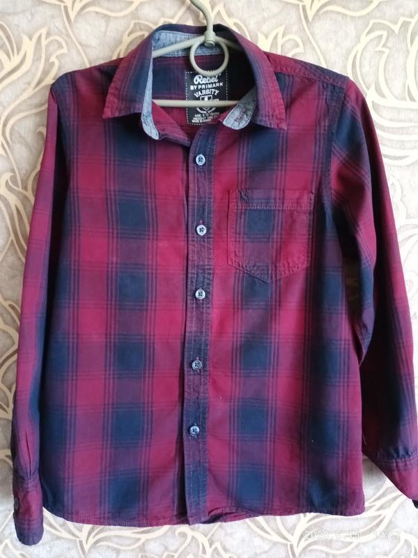 Хорошая рубашка для мальчика 9/10 лет  rebel by primark