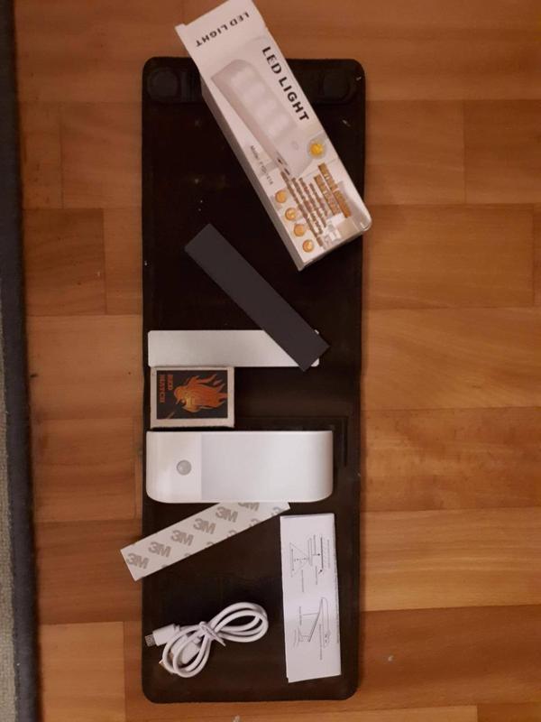 Светодиодный светильник, USB-заряд, датчик движения/освещения, ма - Фото 2