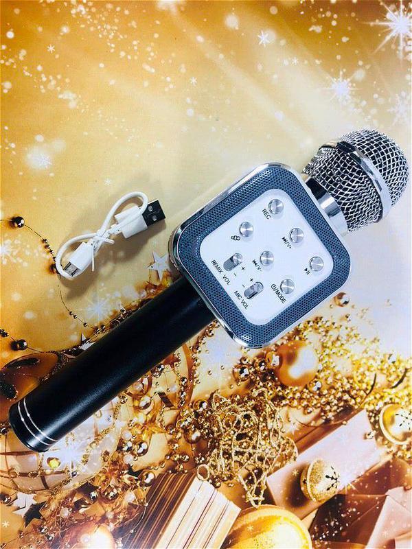 Микрофон Bluetooth караоке беспроводной WS 1818 - Фото 6