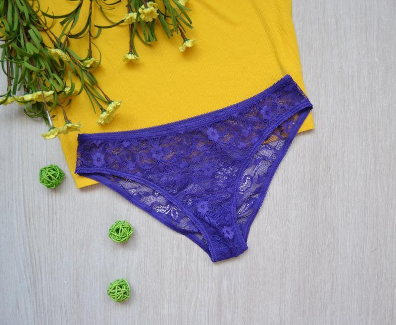 Кружевные фиолетовые трусики tezenis