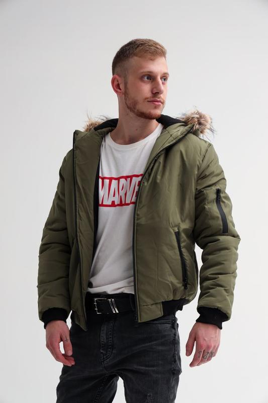 Куртка мужская зимняя пуховик парка ветровка бомбер