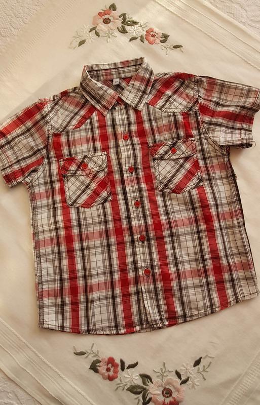 Рубашка на мальчика в полоску сорочка на хлопчика у полоску