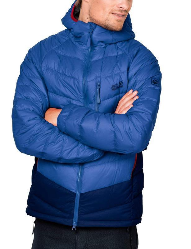 Непродуваемый пуховик jack wolfskin neon down jacket оригинал - Фото 2
