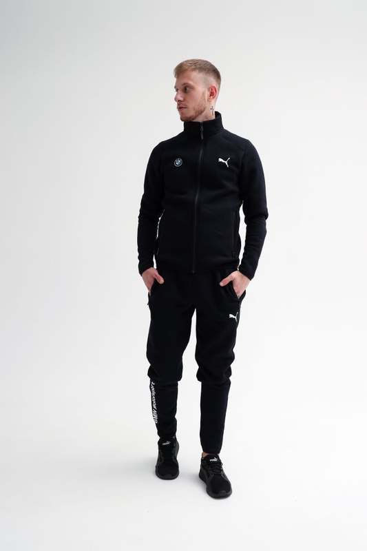 Утепленный костюм БМВ Пума мужской штаны кофта худи мастерка олим