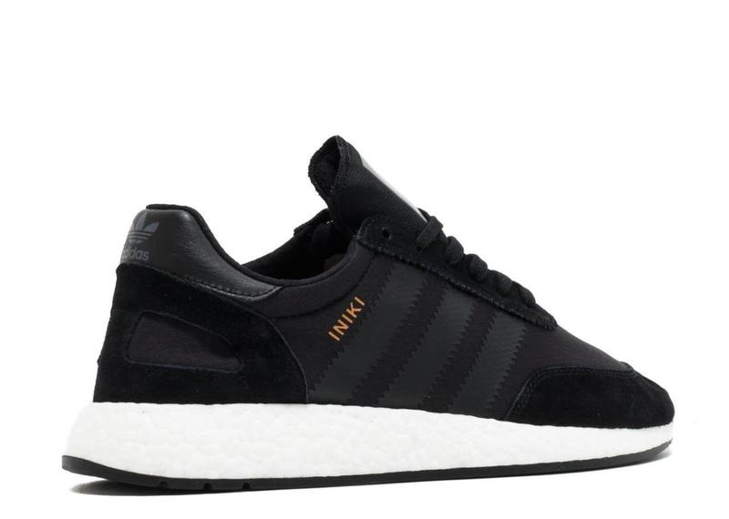 Мужские кроссовки Adidas Iniki Runner Black - Фото 2