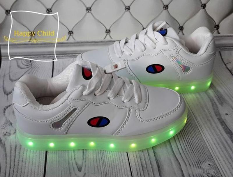 Led кроссовки, светящиеся кроссовки - Фото 3