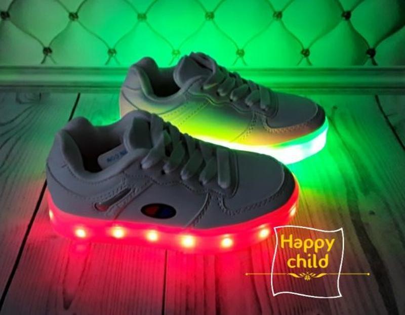 Led кроссовки, светящиеся кроссовки - Фото 4