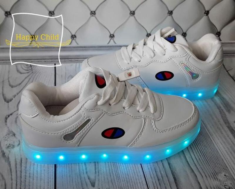 Led кроссовки, светящиеся кроссовки - Фото 2