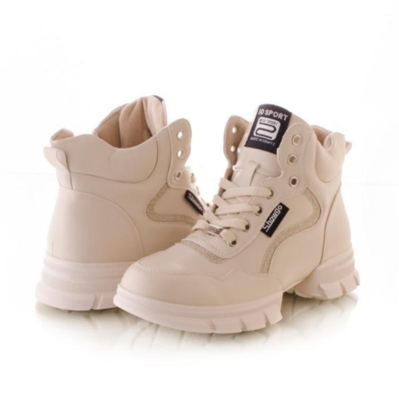 Женские ботинки белого цвета - Фото 3
