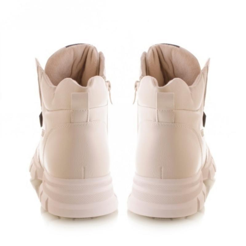 Женские ботинки белого цвета - Фото 4