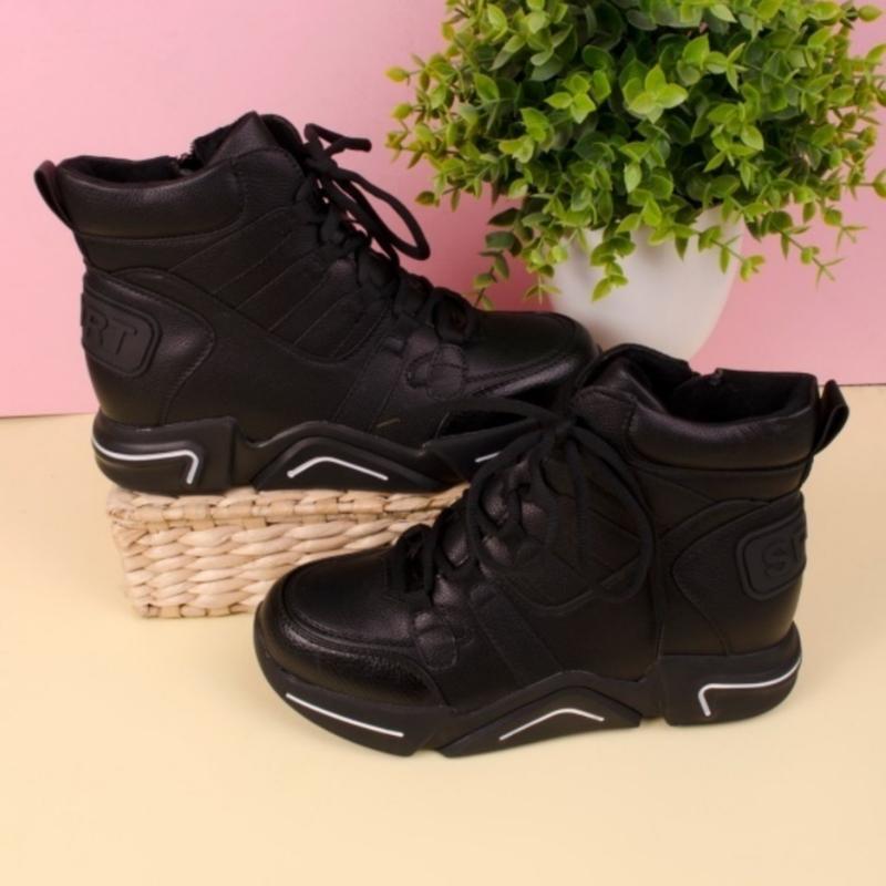 Женские ботинки чёрного цвета - Фото 4