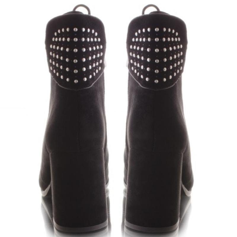 Ботинки чёрного цвета на каблуке - Фото 3