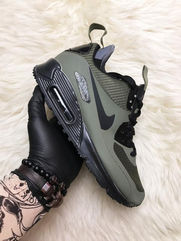 nike air max 90 mid winter trainer green