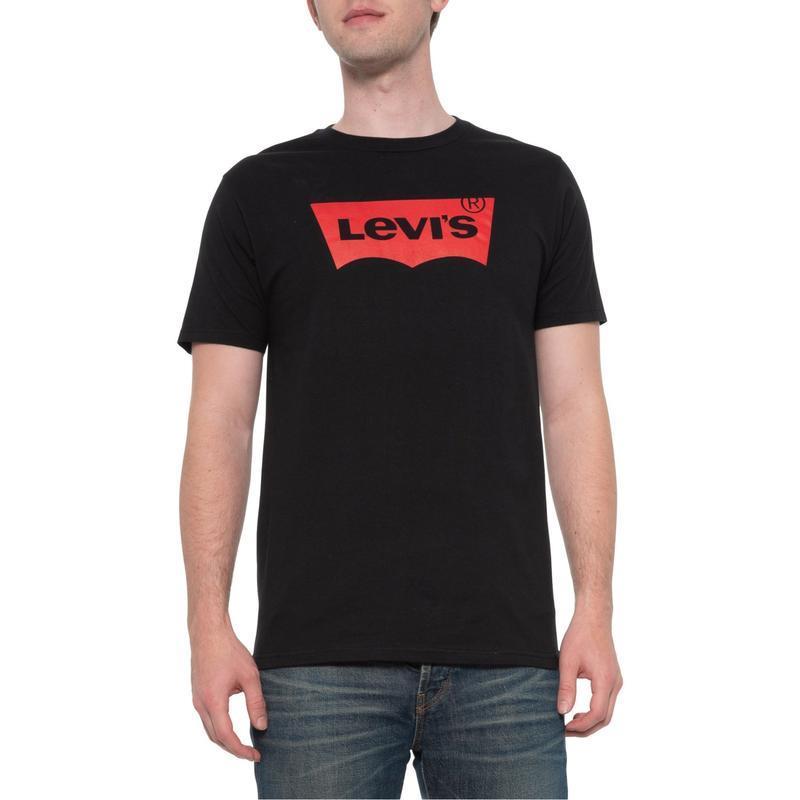 Классическая мужская черная футболка с логотипом levi's(levis)...