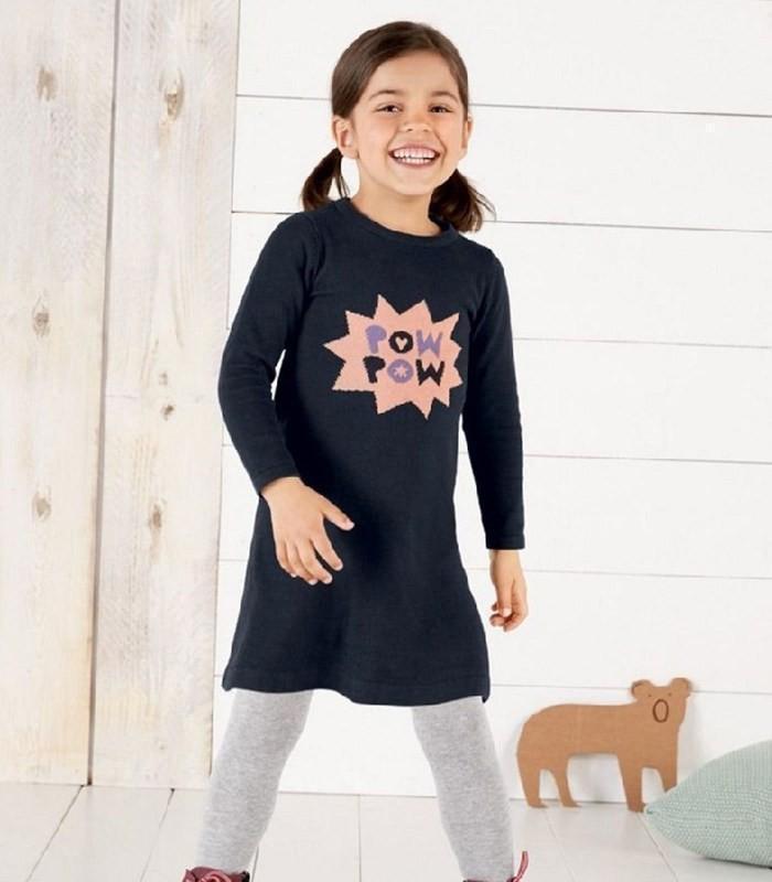 Теплое платье на девочку 4-6 лет