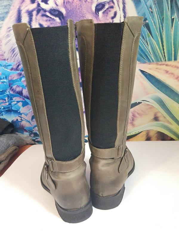 Демисезонные кожаные сапоги,р-р 7,на 40-41,на широкую ногу